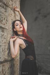 Portrait (portraitsbyandreapi) Tags: girl goth dark portrait nikon d810 italy ritratto ragazza redhead capelli rosso