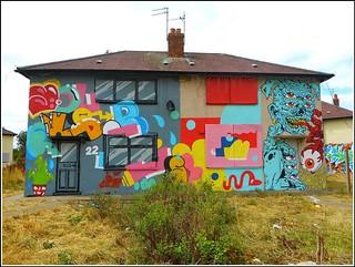 Graffiti Artwork on Two Houses ...