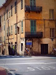 Italian cyclists in Imperia (marionvankempen) Tags: throughherlens