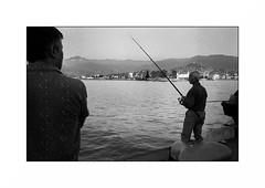 Batumi - Georgia (Punkrocker*) Tags: leica m7 summicron asph 35mm 352 film kodak trix 400 nb bwfp street port harbor people batumi northsea mernoire georgia géorgie travel