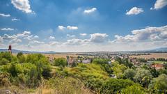 Slovakia, View on Krásno, Žabokreky, Chynorany, Nedanovce
