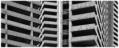 KWU Offenbach #2 (Christoph Schrief) Tags: offenbach kwu baustelle hochhaus abstrakt diptychon leicadlux109 digital sw