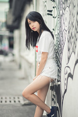 EreneVivi 23 ([EPIX Production]) Tags: beautiful young girl school student pretty casual street ice cream frozen fashion dress