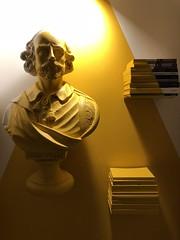 Hommage a Shakespeare (Rosmarie Voegtli) Tags: books yello light sculpture büste iphone sooc edinburough shakespeare