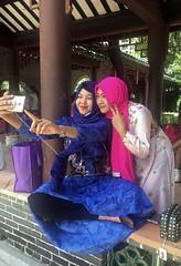 Selfie in the Park (cowyeow) Tags: smile smiles selfie park indonesia traditional asia asian hongkong 香港 girl woman pretty china cute beautiful laichikokpark laichikok meifoo fashion culture girls asiangirl indonesiangirl asiangirls muslim candid