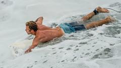 Male Surfer (Jose Matutina) Tags: blond california dude guy hunk huntingtonbeach male man orangecounty sea sel70300g shorts sonya7rii sports surfer