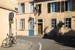 Rue Sainte Anne (patoche21) Tags: bourgogne bourgognefranchecomte cotedor europe france patrimoine photographie rue architecture contraste lumière signalisation vélo patrickbouchenard burgundy street light daylight bicycle heritage