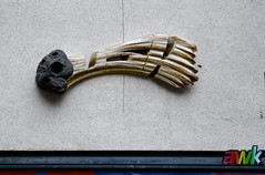 HH-Installations 2041 (cmdpirx) Tags: hamburg germany reclaim your city urban street art streetart artist kuenstler graffiti aerosol spray can paint piece painting drawing colour color farbe spraydose dose marker stift kreide chalk stencil schablone wall wand nikon d7100 installation install cement glue kleber klebstoff tile kachel styrodur styropor vinyl lp cd style guerilla knitting yawn bombing tape inst cutout yarn