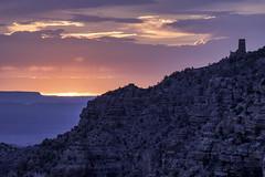 Grand Canyon Watchtower Sunrise (Critter Seeker) Tags: watchtower grandcanyon nationalpark nationalparkservice grandcanyonnationalpark arizona southwest sunrise outdoors outside nature