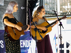 Chloe and Mollie 19 (Andy Sut) Tags: chloerodgers mollieralph chloeandmollie independentsfestival nottingham livemusic outdoor stage citycentre gig acoustic performance