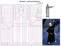 ORIGAMI - LORD VOLDEMORT CP!! (Neelesh K) Tags: origami lord voldemort harry potter boxpleating 32 grids paperfolding creasepattern neeleshk