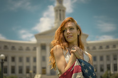 Lady of Liberty (Luv Duck - Thanks for 13M Views!) Tags: select ali redhead redhair downtowndenver independenceday 4thofjuly usa usflag denver model modeling patriotic prettygirl beautifulgirl