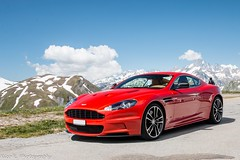 DBS Carbon Edition (Nico K. Photography) Tags: aston martin dbs carbon edition view mountains supercars rare red nicokphotography switzerland furkapass