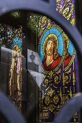 Recoleta Cemetery (L.deavila57) Tags: buenosaires buenosayres photography tourism travel turismo vacation cemetery graveyard jesus christ reflection refraction argentina tomb