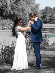 "P1190126-2 (Andy Sut) Tags: wedding bride groom uk traditional england summer matrimony couple romance love british ""thrumpton hall"" nottingham nottinghamshire"
