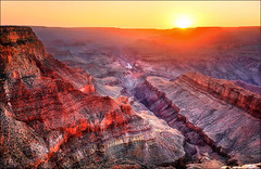 La linea immaginaria (Gio_guarda_le_stelle) Tags: sunset wonderland landscape canyon arizona usa trip tramonto horizon orizzonte space atmosphere grandcanyon southrim travel westcoast