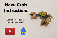 How To: Nexu Crab (Ben Cossy) Tags: rahi lego crab moc afol tfol instructions how to build youtube youtuber guide video bis bionicle inspiration series biogram biotube gold animal sea ocean