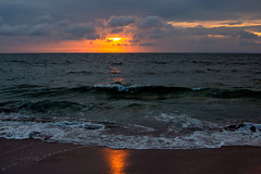 Sunrise in Corolla (Dave_Bradley) Tags: skyporn waterscape landscape outdoor sunrise outerbanks northcarolina sunset usa beach ocean eastcoast clouds cloud waves sunlight