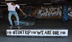 Skateboarding, South Bank, London (chrisjohnbeckett) Tags: skateboard skateboarding london londonist timeout soothbank undercroft graffiti tentrip weareone street urban portrait action youth chrisbeckett fujifilmx100f text writing message