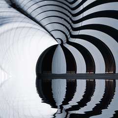 Atlantis SG8 by Simon Hadleigh-Sparks (Simon Hadleigh-Sparks) Tags: reflection distorted architecture abstract art contrast curve lines pattern round rings simonandhiscamera water geometric atlantis conceptual surreal