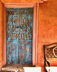 The Pink Adobe (rimlli) Tags: santafe building doors newmexico colors pinkadobe restaurant