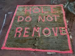 Hole (Chris Protopapas) Tags: hole losangeles california type sign plywood iphone dnr