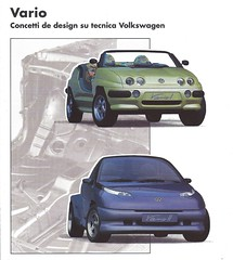 VW Vario I and II (Hugo-90) Tags: vw volkswagen car auto automobile ads advertising brochure catalog katalog vario show prototype concept