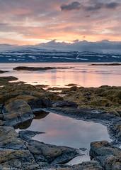 Westfjords sunrise (Donard850) Tags: iceland westfjords mountains poolsea rocks seaweed snow sunrise