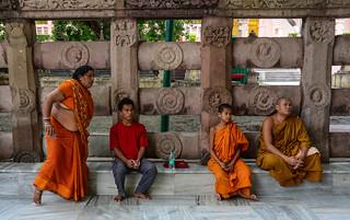 Prayers at Mahabodhi Temple