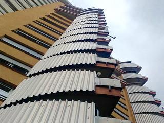 Romeo&Julia building by Hans Scharoun, 1955-59, Stuttgart, Germany
