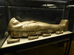 Silver Falcon-Headed Coffin of Sheshonq II (Aidan McRae Thomson) Tags: cairo egyptian museum ancient egypt metalwork sculpture tanis