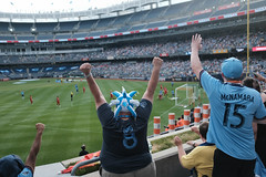New York City Football Club (Zach K) Tags: football soccer nycfc new york city fooball club bronx yankee stadium yankeestadium goal score excitement crowd fans bigfans bleachers