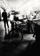 2018-07-16_08-44-49 (jumppoint5) Tags: blackandwhite light shadow city constrast oldmen street urban trishaw asleep