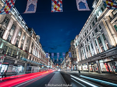 RA 250 Flags (Mohamed Haykal) Tags: london england unitedkingdom gb hasselblad x1d xcd 21 regent street united kingdom great britain mohamed haykal royal academy art 250years anniversary celebrate nightspot lights strikes long exposure