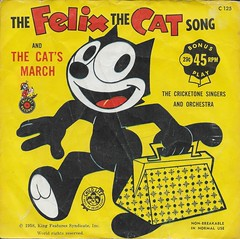 Felix The Cat 45RPM ( Cricket Records 1958 ) (Donald Deveau) Tags: felixthecat cartoon illustration 45rpm record vinyl cricketrecords childrensrecords