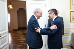Rui Rio recebe Carlos Moedas