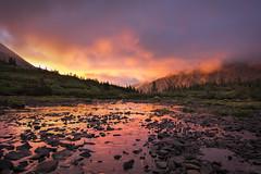 Sangre De Cristo Sunrise (Aaron Spong Fine Art) Tags: sangre de cristo wilderness colorado fiery dramatic sunrise south colony lakes lake crestones humboldt aaron spong