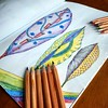 The Amazing world of leaves (Neringa-B) Tags: coloring colouring book leaves patterns