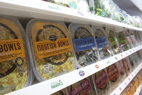 Mann Packing was on hand to show off its line of Nourish Bowls, which used a variety of vegetables in new forms.
