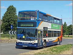 18158, Upton Way (Jason 87030) Tags: dennis trident stagecoach midlands northampton northants uptonway northamptonshire red white blue orange doubledecker 18158 px54awv silverston f1 grandprix formulaone n1 service july 2018 alx400 photo photos pic pics socialenvy pleaseforgiveme picture pictures snapshot art beautiful picoftheday photooftheday color allshots exposure composition focus capture moment