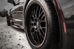 Cray Eagle - Matte Black - Gray Chevrolet C7 Corvette Grand Sport - 4 (tswalloywheels1) Tags: gray grey chevrolet corvette chevy vette c7 grand sport cray wheels aftermarket wheel rim rims alloy alloys eagle mesh deep lip staggered matte black