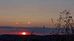 [NT] Sunset View From Alport Heights. July 2018 (SimonHX100v) Tags: nationaltrustuk ambervalley sunset sundown sun sunrays sunshine landscape landscapephotography countryside windturbines silhouette