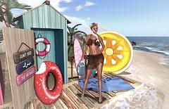 ... Meanwhile At The Beach... (SherriOhCherri) Tags: mooh ph twe12ve ebp theavenue astralia zibska chicchica capefloridalighthouseandpark phedora catwa maitreya secondlifeevent secondlifefashion secondlifeblogger