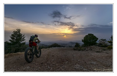 Ride Into The Sun (MάNoS) Tags: bike sunset sky mountain tree road hymettus nikon d5300 saariysqualitypictures