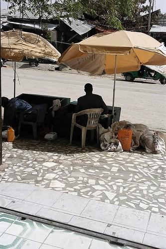 Street vendors in Borama