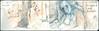El tren F, Brooklyn. 6 de junio, 2018. (Sharon Frost) Tags: subways publictransportation ftrain brooklyn stephen readingmanseries passengers sharonfrost drawings paintings journals daybooks sketches urbansketchers