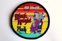 Castle woven patch (BF Bricks) Tags: lego ephemera collectible patch sew embroidered 80s 90s
