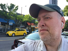 Day 2347: Day 157: On Broadway (knoopie) Tags: 2018 june iphone picturemail yellowcab taxi broadway capitolhill doug knoop knoopie me selfportrait 365days 365daysyear7 year7 365more day2347 day157