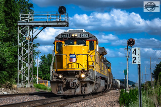 Westbound UP Manifest Train at Armour, MO