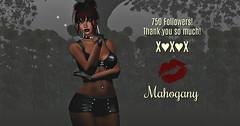 750 (♥~ Mahogany ~♥) Tags: flickr 750 milestone secondlife grateful artistry creativity community love